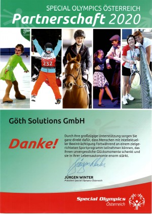 GÖTH Solutions - Special Olympics 2020