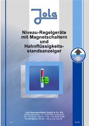 JOLA - Niveau- Regelgeräte mit Magnetschaltern und Hahnflüssigkeitsstandsanzeiger