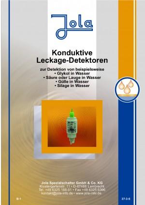 JOLA - Konduktiver Umweltschutzsensor für Glykol, Säure, Laugen, Gülle und Silage