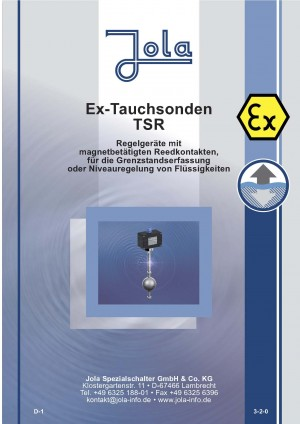 JOLA - Produktkatalog Neuheiten TSR - EX-TAUCHSONDEN