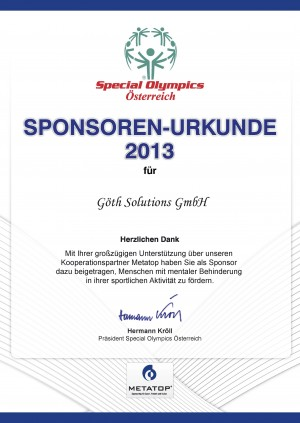 GÖTH Solutions - Special Olympics 2013