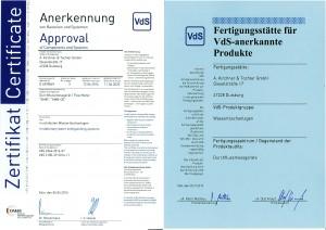 KIRCHNER & TOCHTER - Fachkompentenz VdS Sprinkler Messblenden