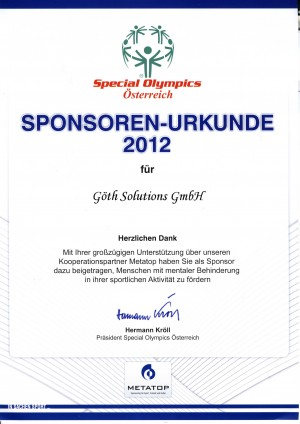 GÖTH Solutions - Special Olympics 2012