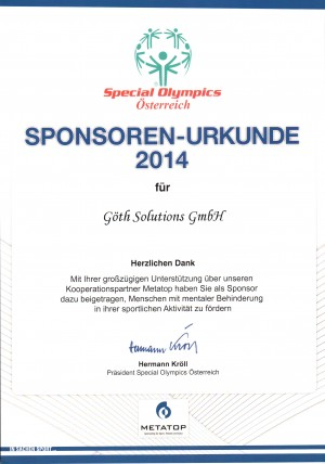 GÖTH Solutions - Special Olympics 2014