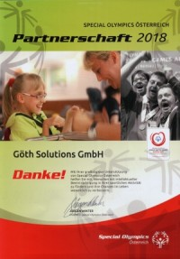 GÖTH Solutions - Special Olympics 2018
