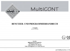 NIVELCO MULTICONT deutsches Manual